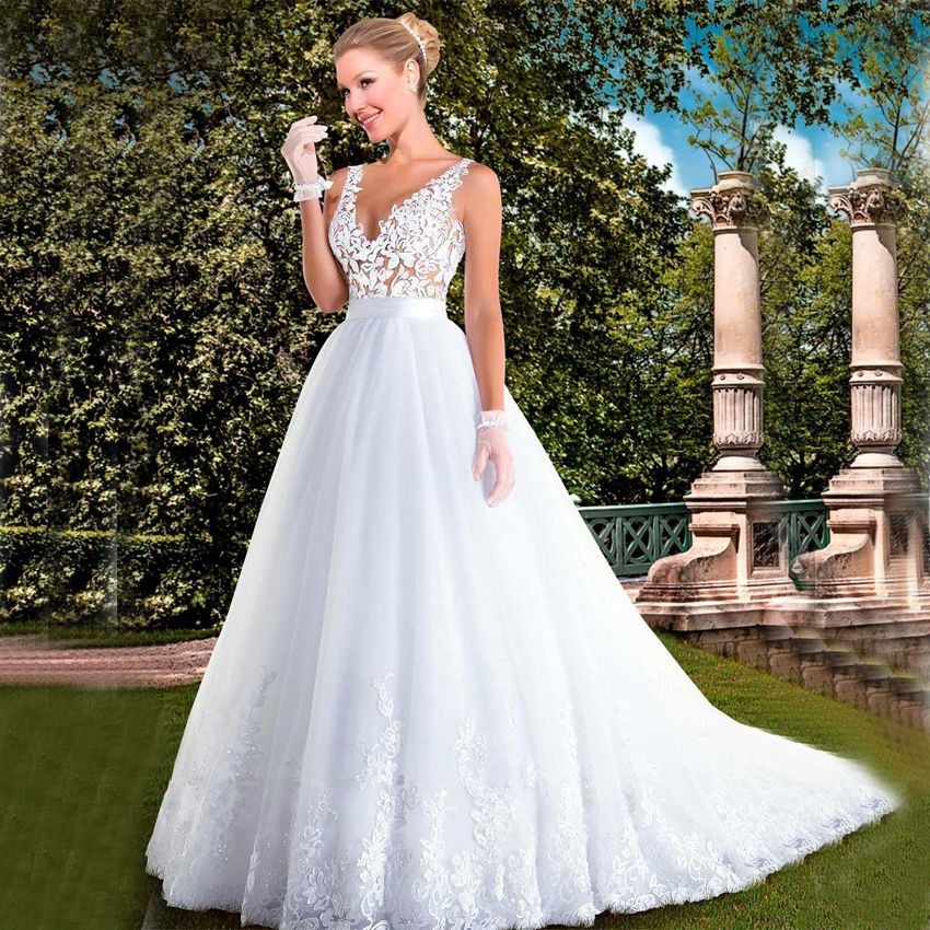 Free Shipping Buy Best 2017 Vintage Lace A Line Wedding Dress White