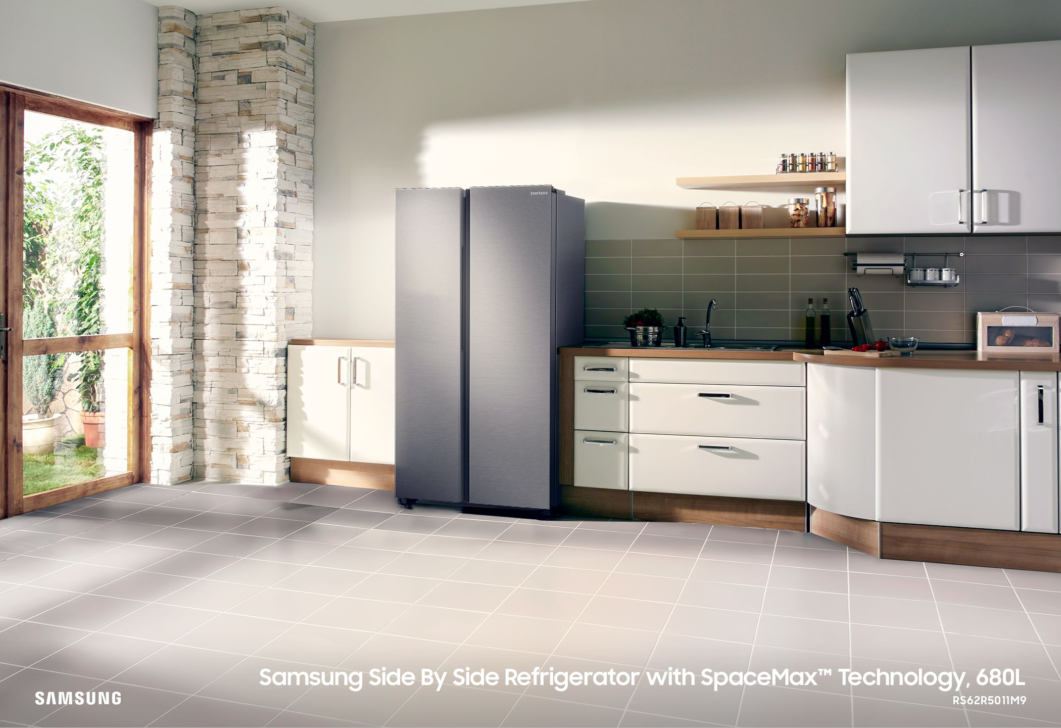 Side By Side Refrigerator With Spacemax Technology 680l