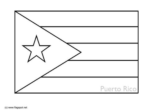 Coloring Page Flag Puerto Rico Easy Coloring Sheet Quick Tie In