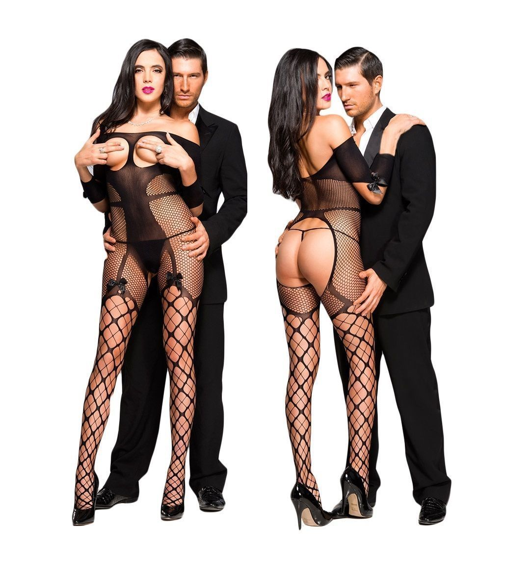e88e910cc7 £9.99 GBP - Black Seductive Bodysuit Bnwt Tights Catsuit Bodystocking  Lingerie Fishnet A2  ebay  Fashion