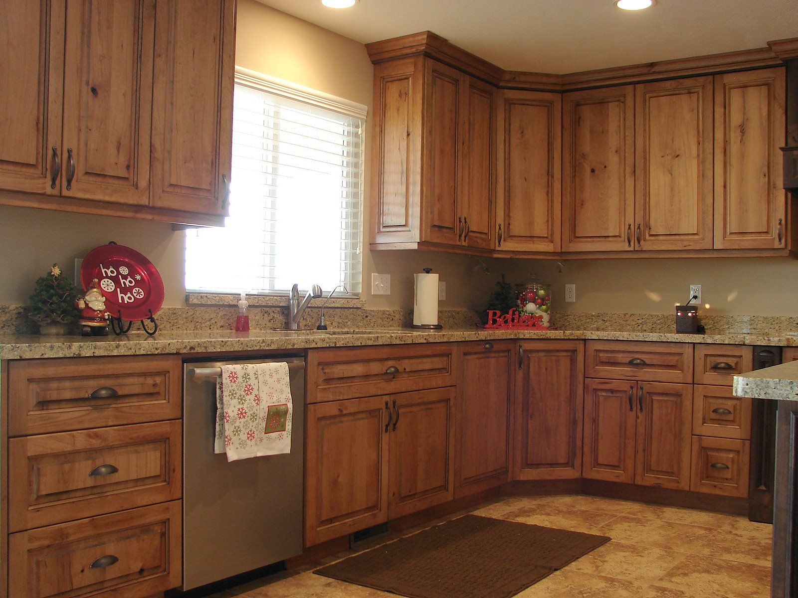 rustic farmhouse kitchen cabinets Rustic Cherry Cabinets