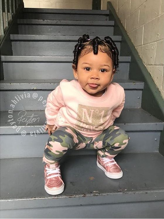 82b70fa0b1 Pin by ry🤑 on Cute baby outfits   Cute hairstyles for kids, Baby girl  hairstyles, Toddler fashion
