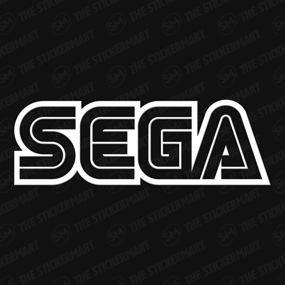 Sega Logo Vinyl Decal Sega Vinyl Decals Retro Logos