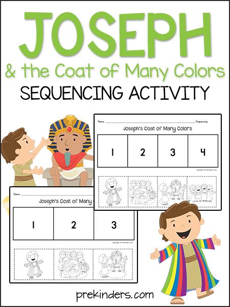Joseph & the Coat: Sequencing Activity | Christian Preschool
