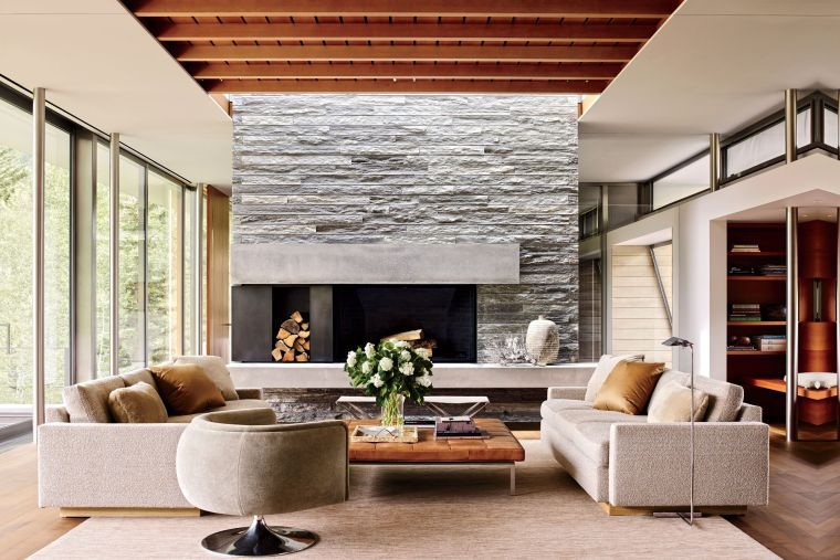 Cheminée moderne : 60 idées de décoration d\'intérieur convivial