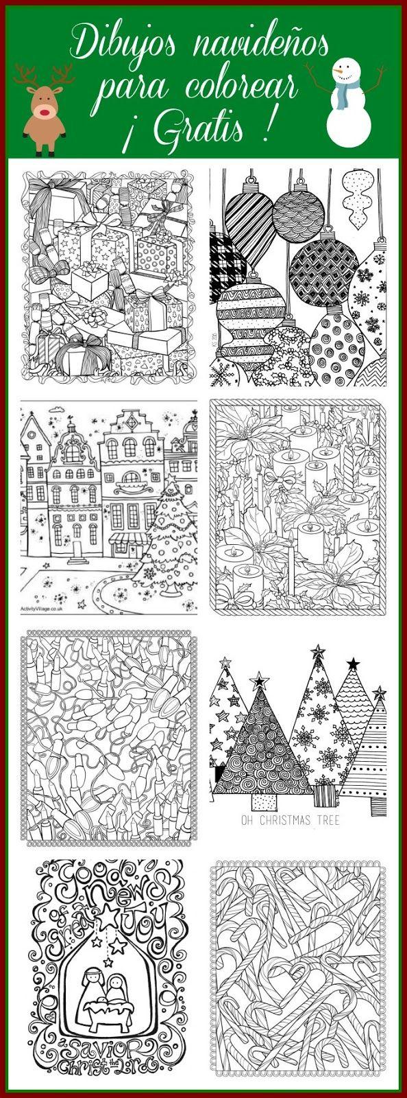 10 Dibujos navideños para colorear Colores de navidad