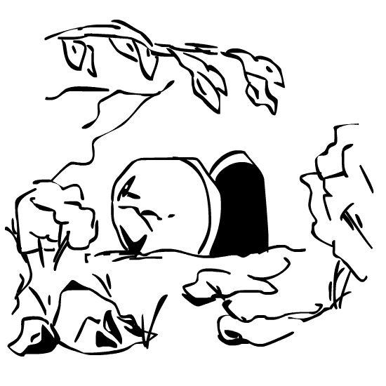 Christ Is Risen Clip Art | Garden Tomb New Testament LDS Clip Art Christ  Resurrection