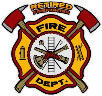 FIRE FIGHTER EMBLEM Retired Firefighter Decal