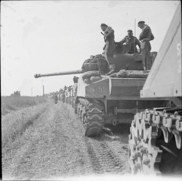 AUG 20 1944 Polish armour holds SS counter-attack at Mont-Ormel Sherman tanks of the 1st Armoured Regiment (10th Armoured Cavalry Brigade, 1st Polish Armoured Division) at the start of Operation 'Totalise'.