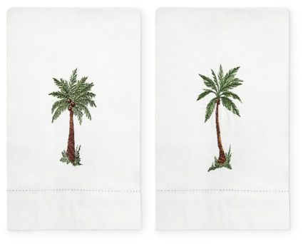 Palm Tree Bath Towels 5481 Guest Set Of Two Product Detail