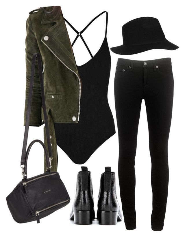 """""""Untitled #802"""" by oliviaquan22 ❤ liked on Polyvore featuring Topshop, Acne Studios, rag & bone and Givenchy"""