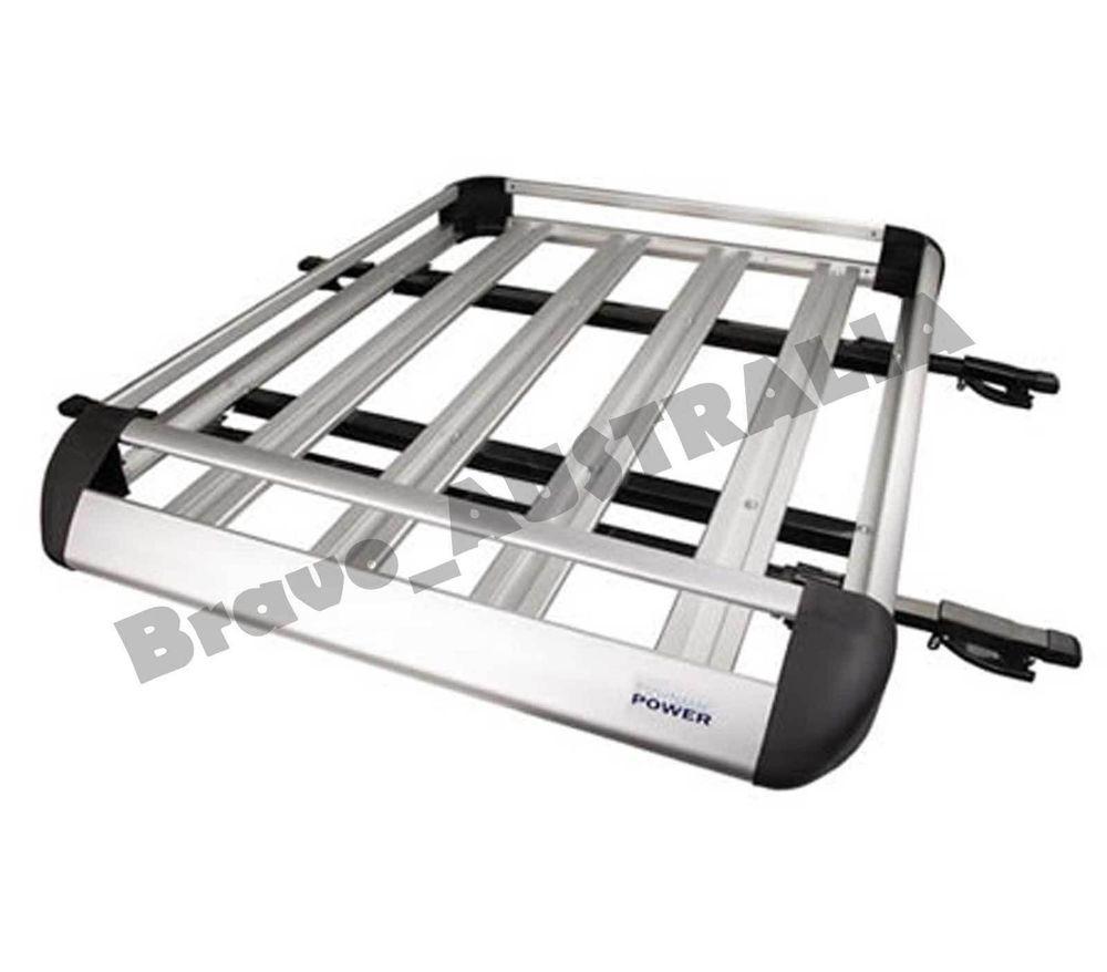 4WD Aluminium Roof Rack Luggage Cargo Carrier Basket Box