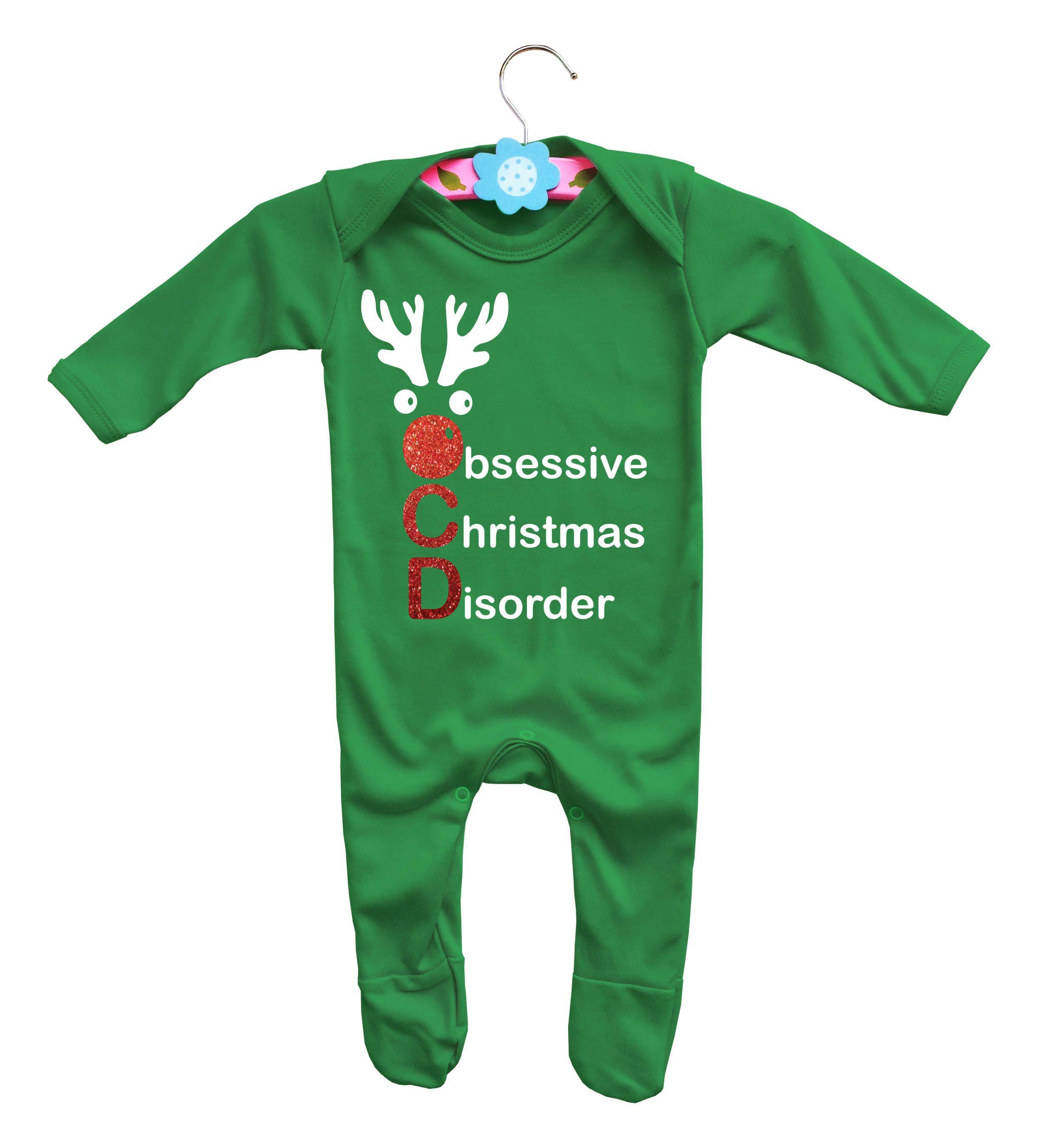 Baby\'s Christmas long sleeve rompasuit bodysuit Obsessive Christmas ...