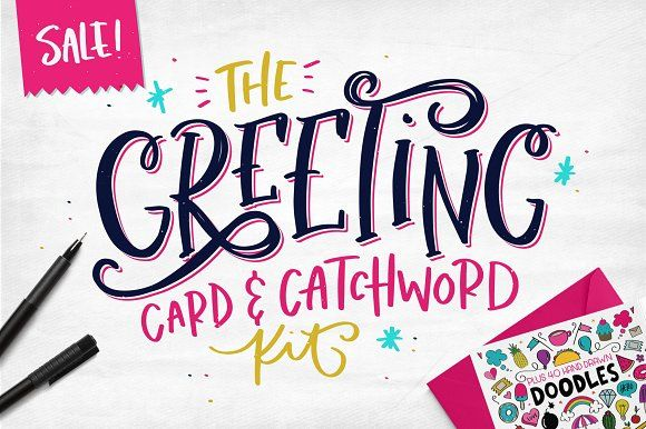 The greeting card catchword kit fonts graphics and creative design the greeting card catchword kit m4hsunfo