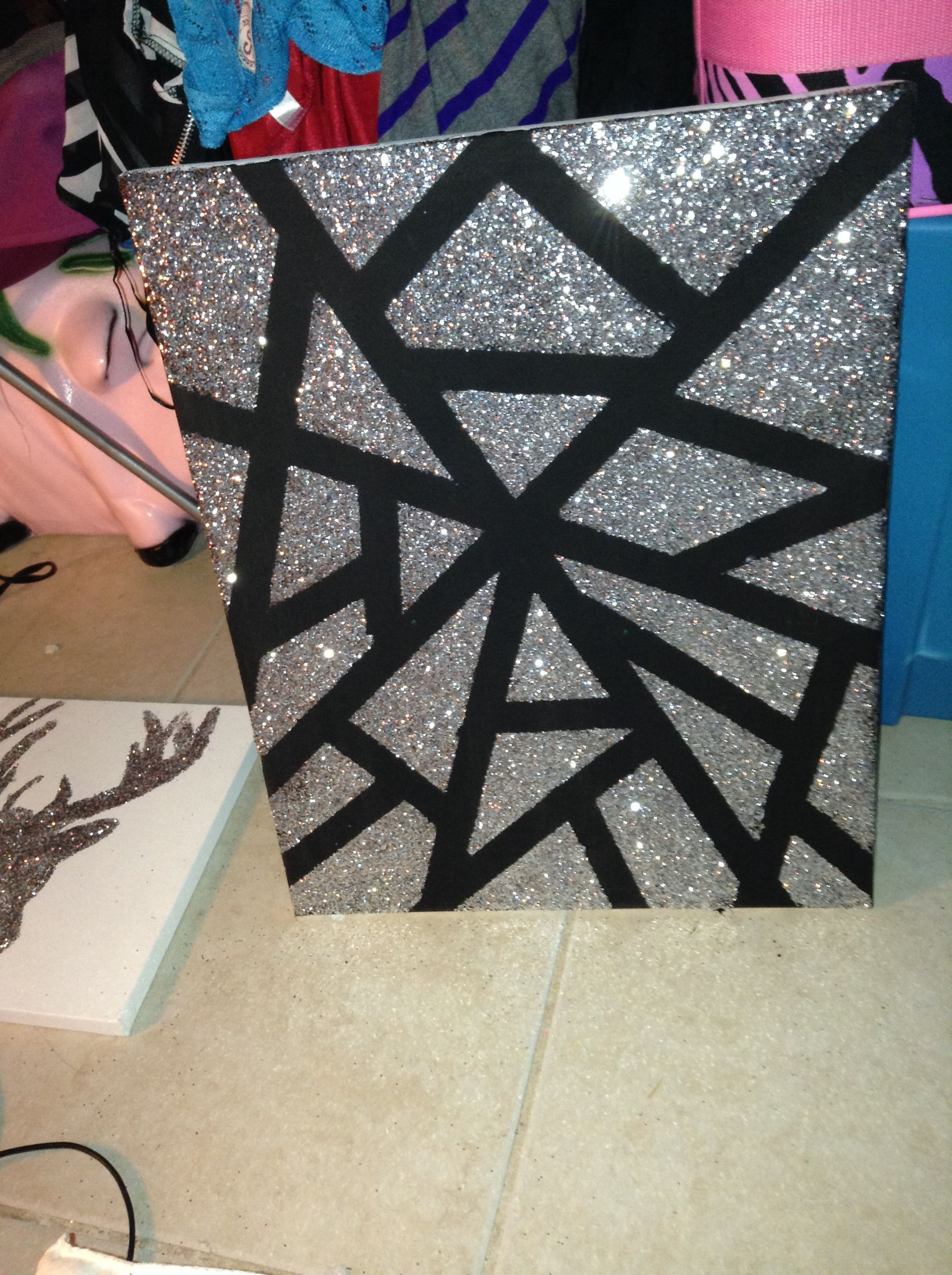 Glitter Canvas Paint With Images Diy Canvas Art