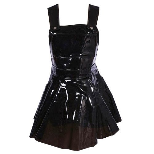 Top PVC en negro//Black PVC top with back Zipper