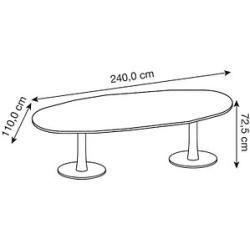 Quadrifoglio Konferenztisch wenge oval Quadrifoglio