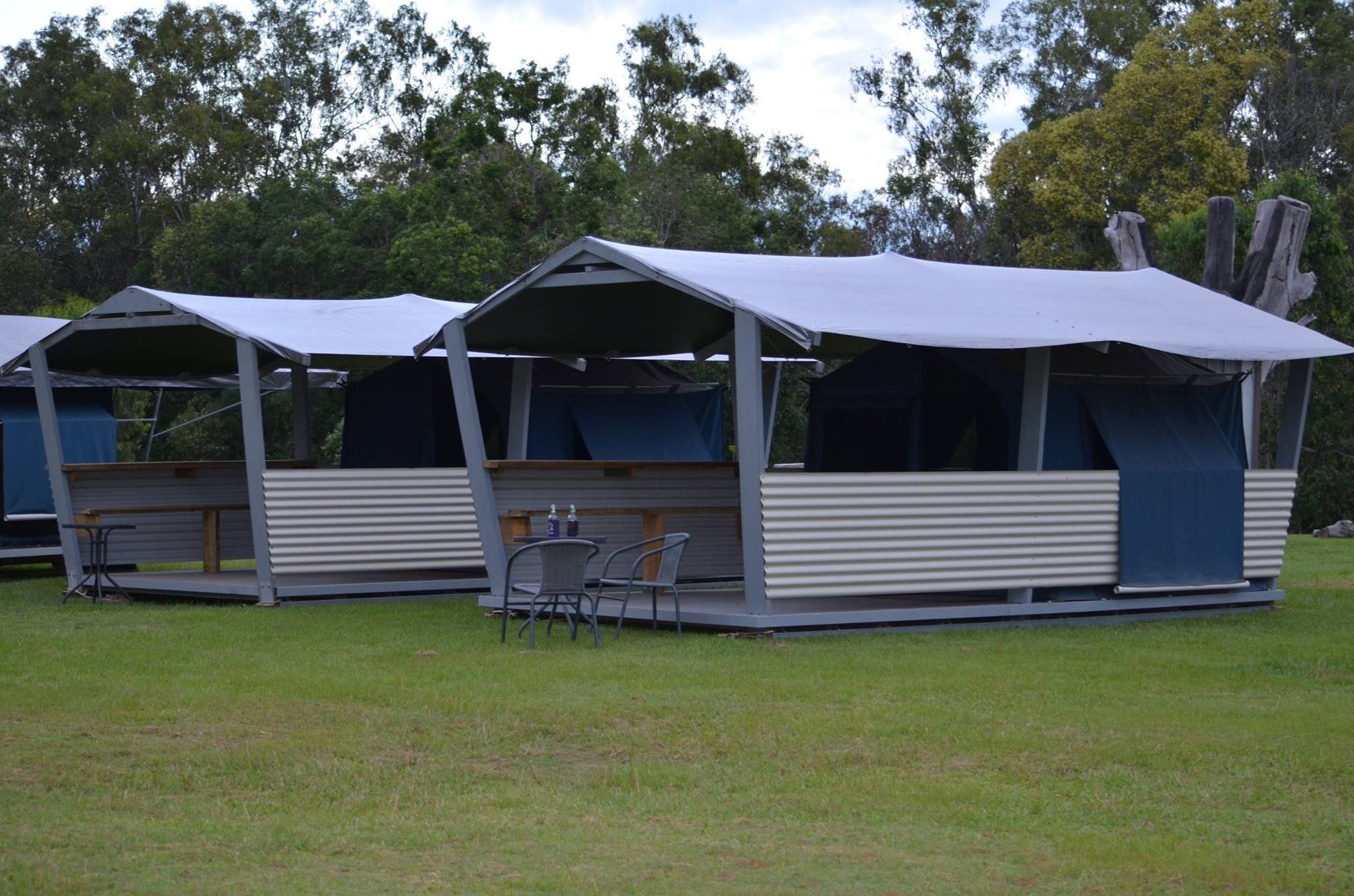 These two tents left for Saturday night ideal for 2 couples. Complete with quality beds u0026 linen c&fire out the front bottle of your favorite. & These two tents left for Saturday night ideal for 2 couples ...