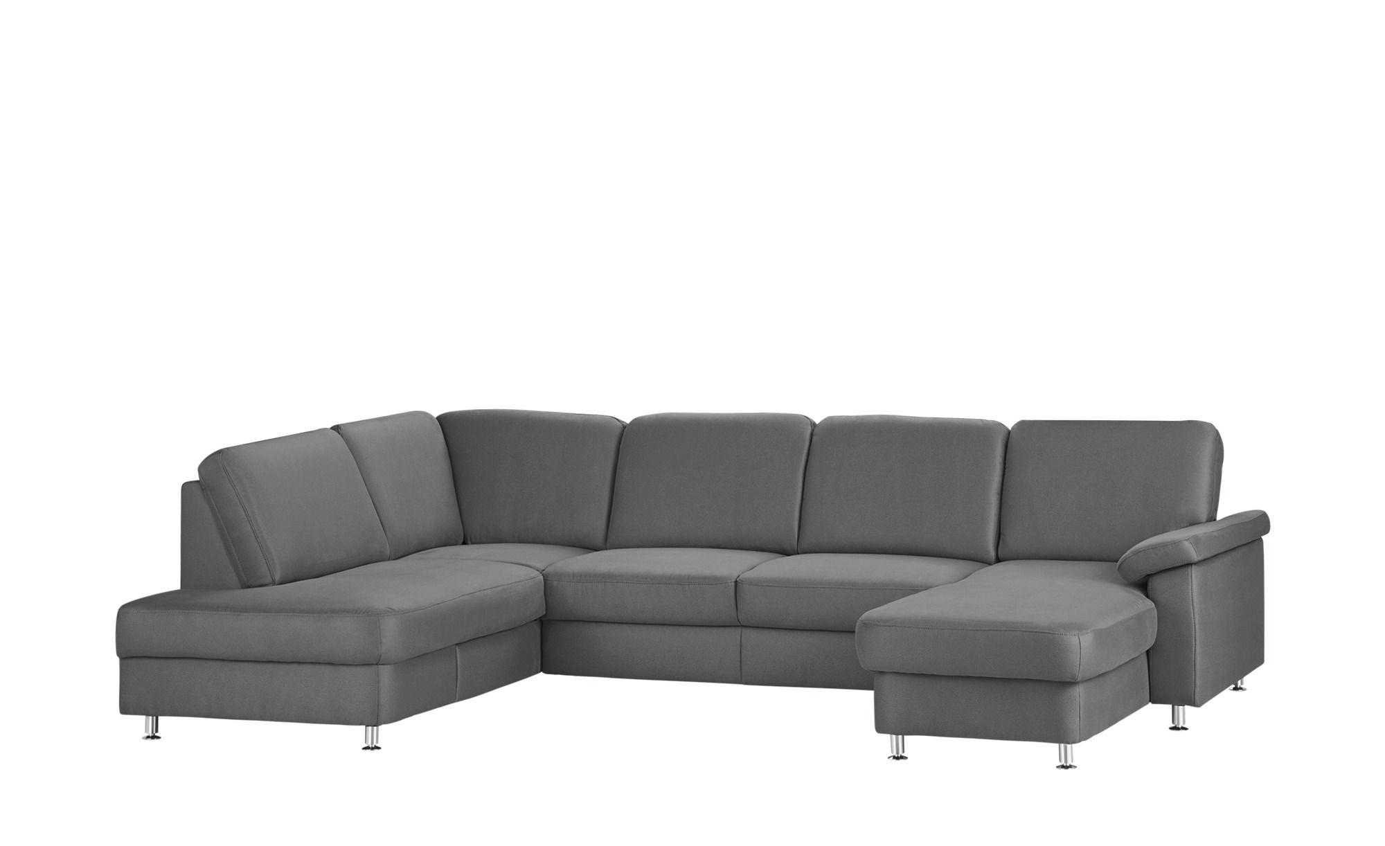 Wohnlandschaft Grau Mikrofaser Oliver S Wohnen Sofa