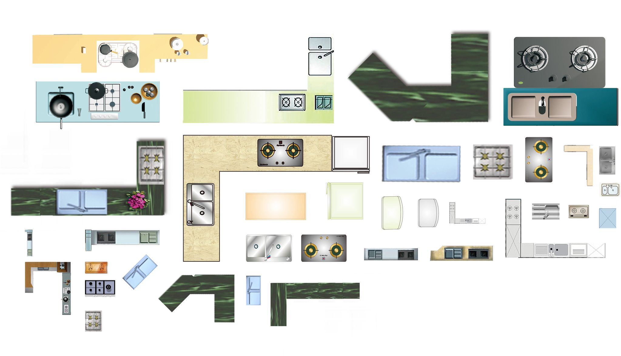 Free PSD Kitchen Blocks CAD Design Free CAD