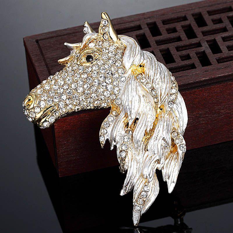 Animal Brooch Horse Jewlry Western Wear Scarf Pin Horse Head Pin Vintage Silver Tone Horse Brooch