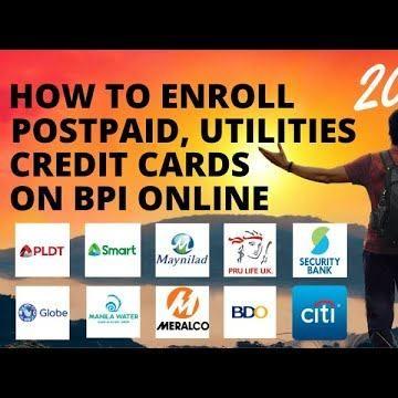 How To Enroll Credit Cards Globe Smart Pldt Maynilad Meralco
