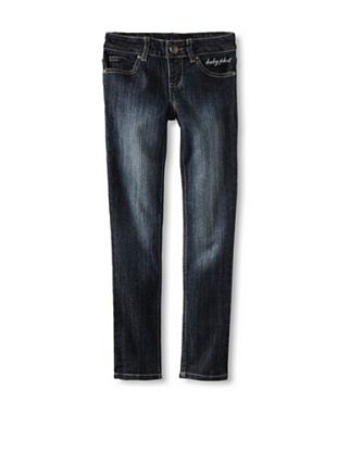 Baby Phat Girl's 7-16 Denim Jean (Dark Blue)