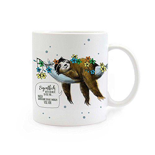 Kaffeetasse Tasse Faultier Ich wurde positiv auf Müdigkeit getestet Sloth