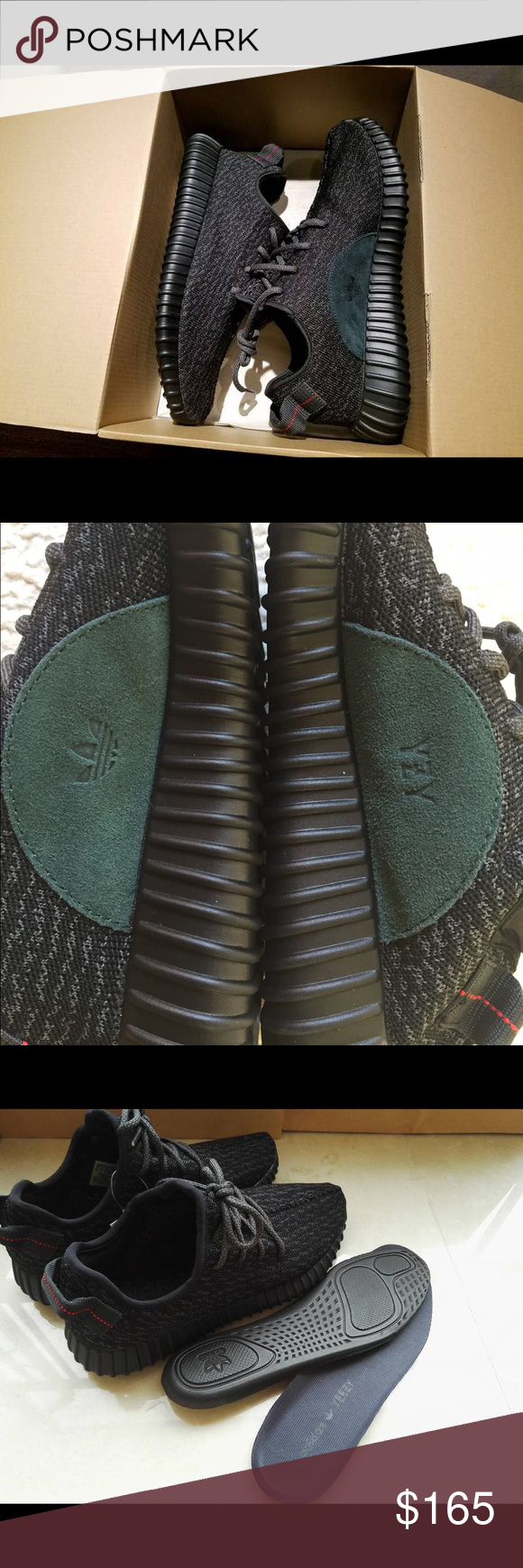 eac68465a80a5 NEW Adidas Yeezy Boost 350 Pirate Black Men Size Up for sale brand New Adidas  Yeezy