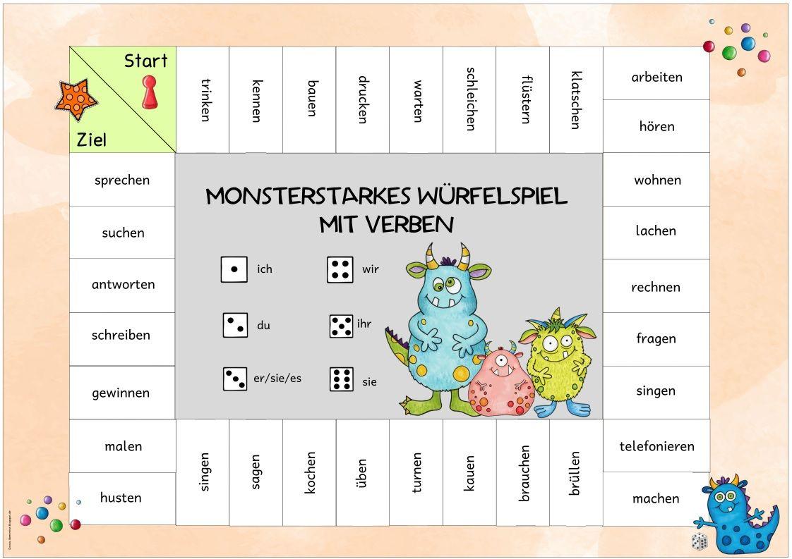 Ideenreise: Verbenspiel | Grundschule Ideen | Pinterest | Ideenreise ...