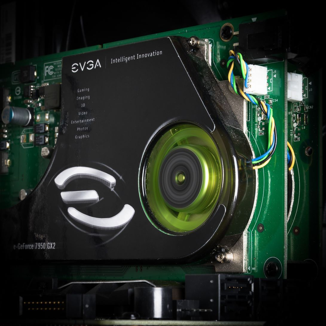 Welcome To The Year 2006 When Evga Launched The Evga Geforce 7950 Gx2 A Dual Pcb On A Single Card Powerhouse Tbt Computer Technology Nvidia Gaming Setup
