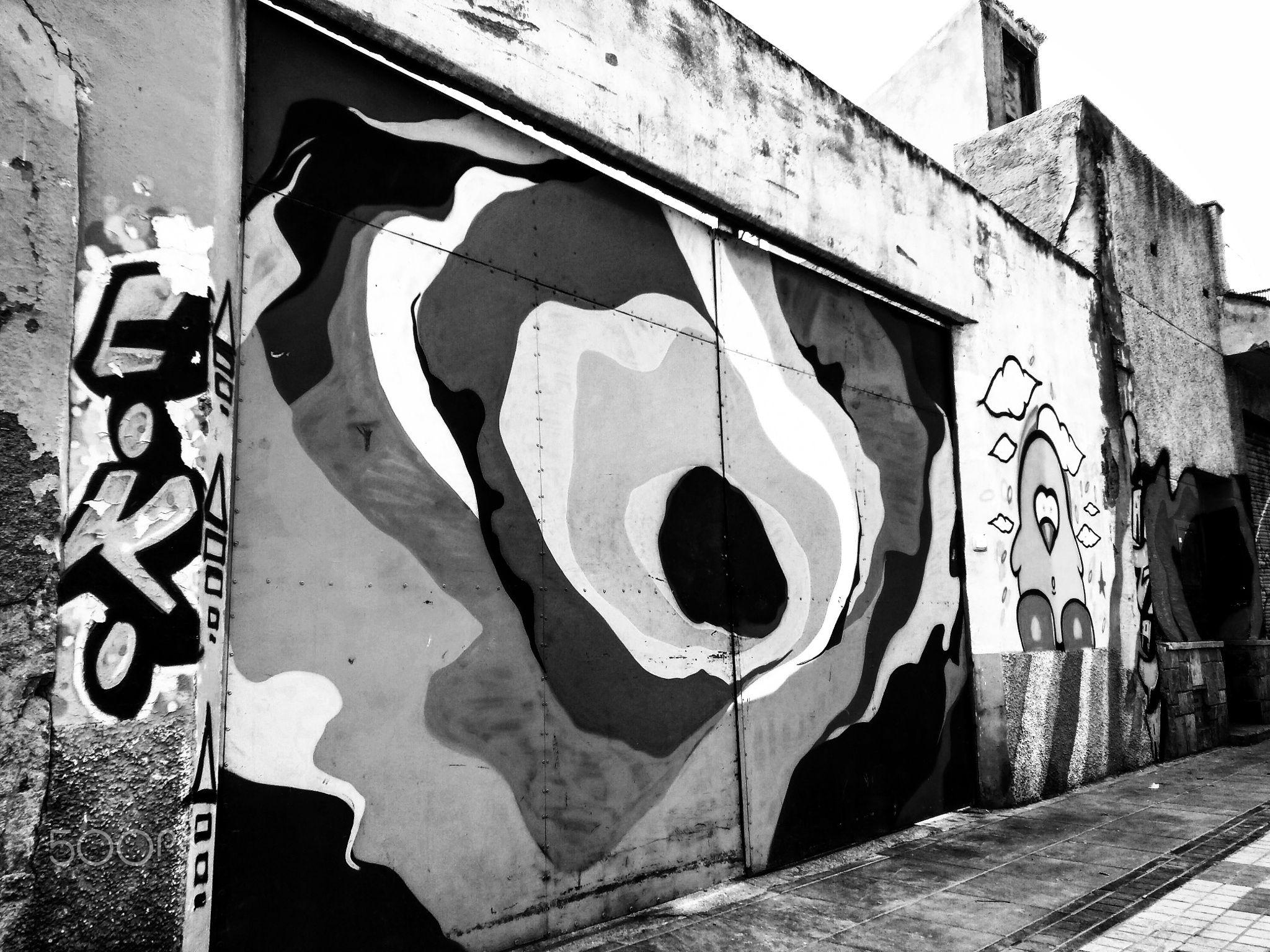 AG119_SpraycanAlley1.jpg - Spraycan alley 1 - alleyway in Cartagena filled with #graffitiart & #Streetart