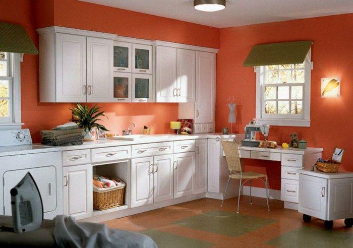 Best Wall Color Ideas Kitchen Orange Walls White Kitchen 400 x 300