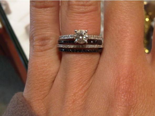 show me your black diamond wedding band weddingbee