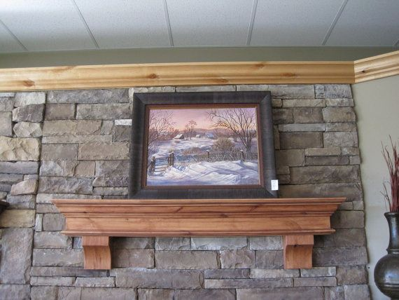 Knotty Alder Fireplace Mantel Shelf Crown Mold Corbels Hearth