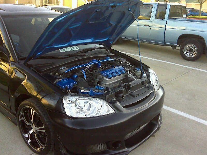 2003honda Civic Lx Strut Bar Ros N Dfw 2001 Honda Specs Photos Modification Info At Cardomain