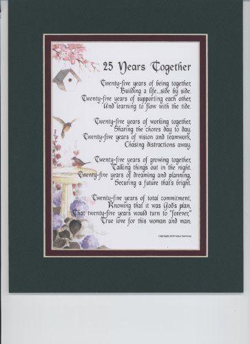 25th Wedding Anniversary Gifts Pinterest : wedding anniversary poems 25th wedding anniversary anniversary ideas ...