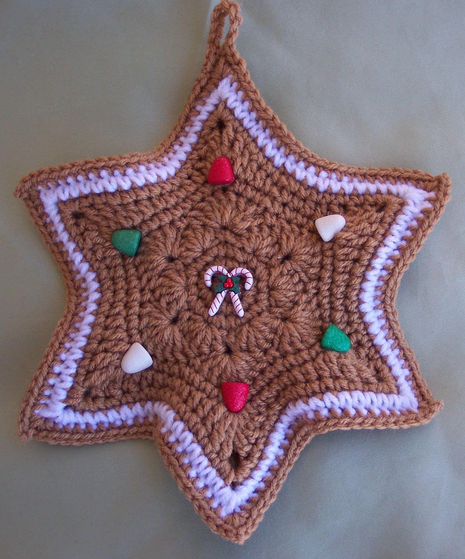 Crochet Star Potholder, by Linda Weddle   crochet with kristen ...