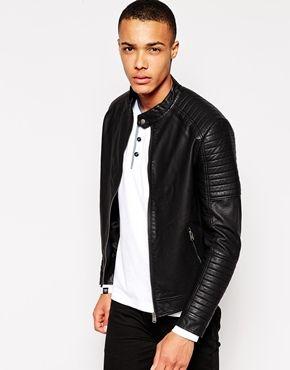 Jack & Jones Faux Leather Biker Jacket