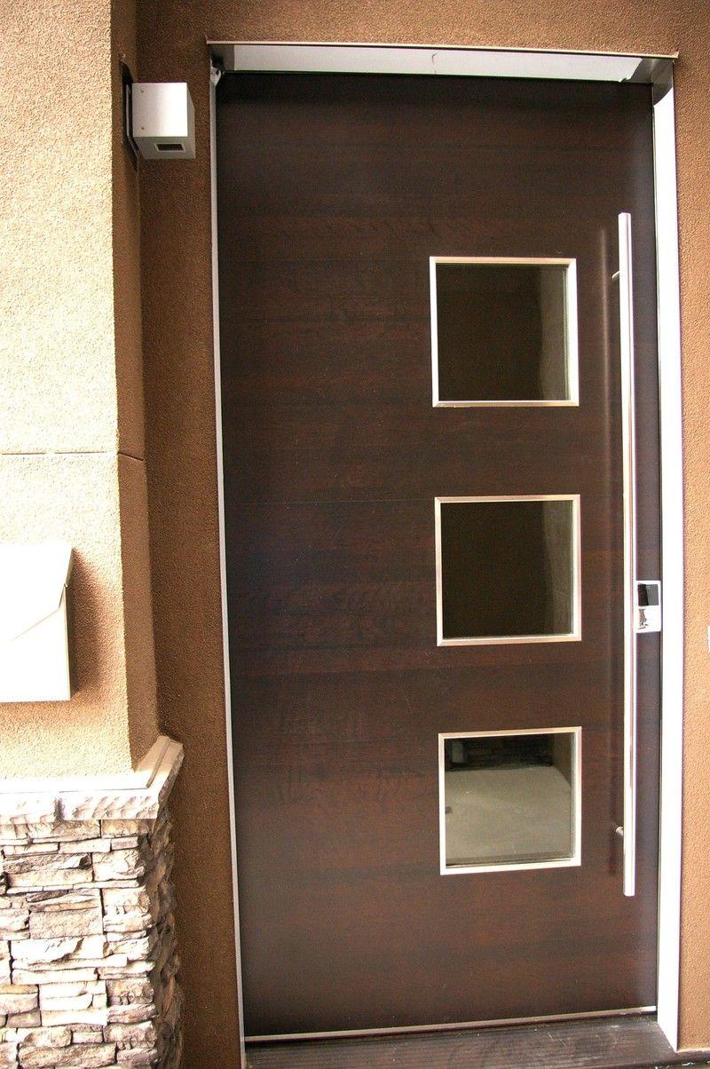Wood Door - 3 small cut-outs | Exterior Doors | Pinterest | Wood ...