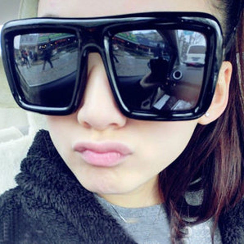 Fashion womens oversized sunglasses big black square sun glasses for men  male Plastic gradient lens Points shades in stock 1325 cf747253f