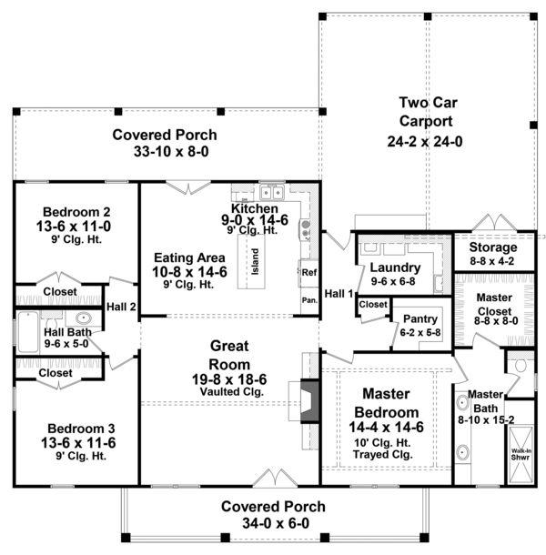 Photo of Farmhouse Style House Plan – 3 Beds 2.5 Baths 1800 Sq/Ft Plan #21-451