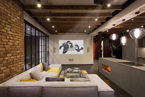 Industriele Loft Woonkamer : Open loft woonkamer wooninspiratie pinterest lofts luxe en