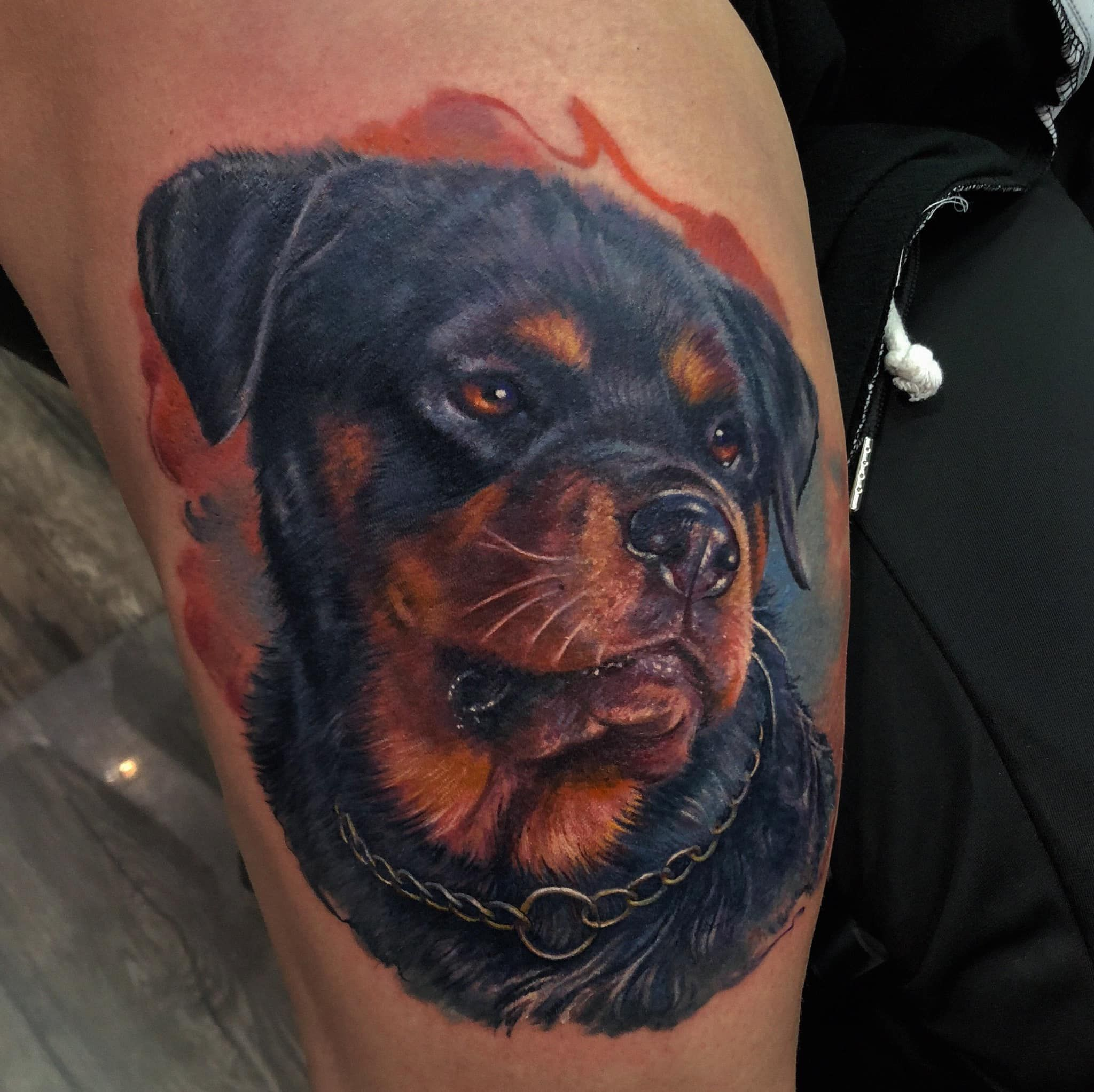 Rottweiler Rottweilertattoo Hundeportrait Realistic Realistictattoo Hautkultur Ihordankovych Tattoomannhe Godfather Tattoo Dog Tattoo Rottweiler Tattoo
