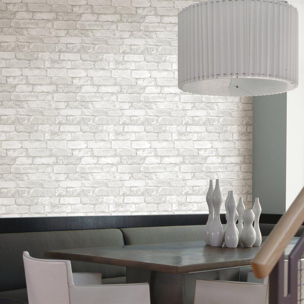 Provincial Wallcoverings 260421261 Brickwork Light Grey