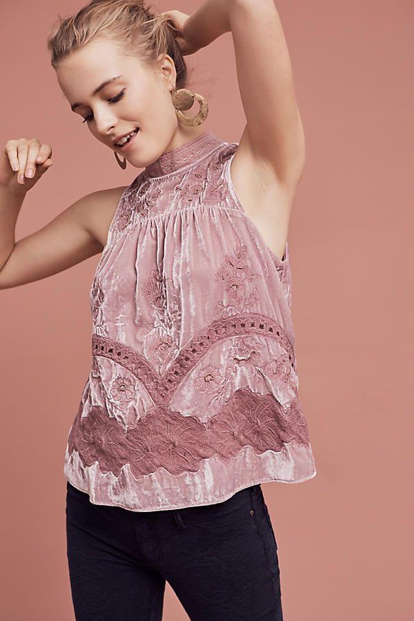 Myleen Velvet Shell | Blusas, Ropa y Moda para mujer