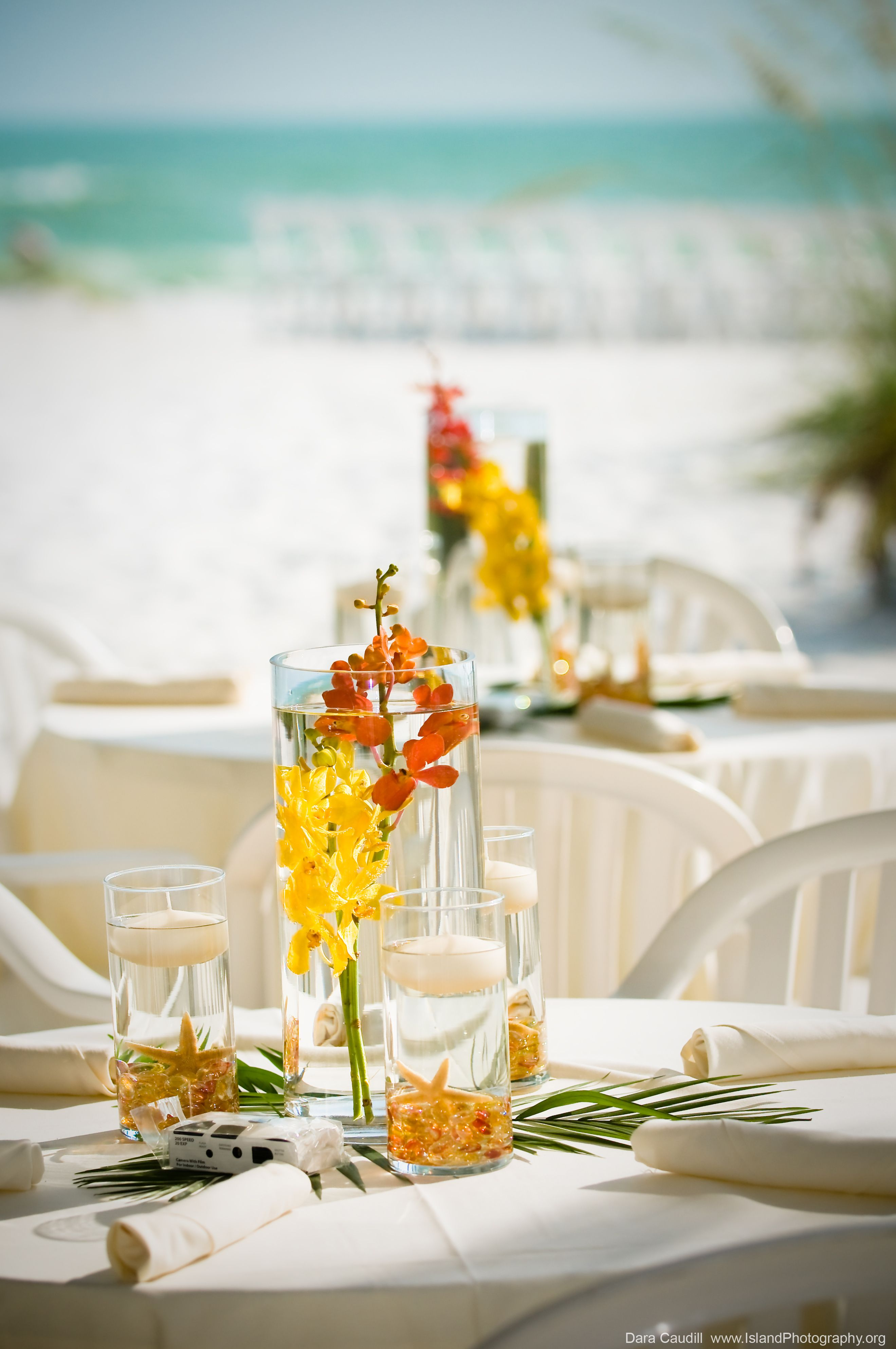 Wedding centerpiece BeacHhouse Weddings Anna Maria Island, Florida ...