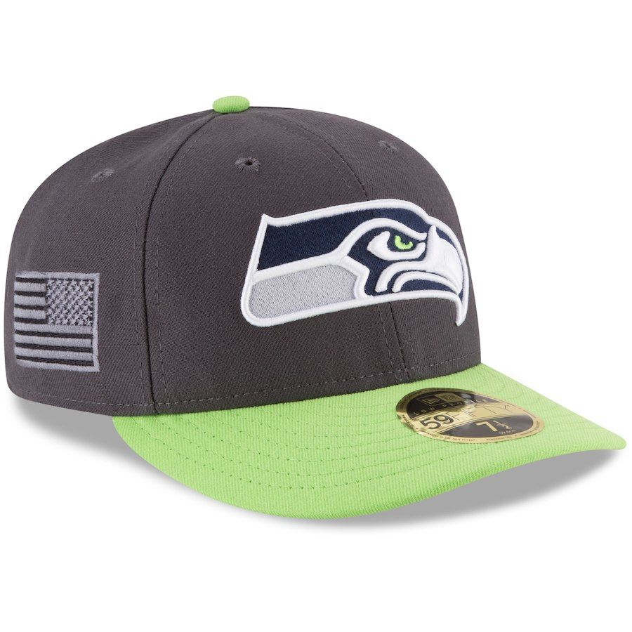 c24ac5292 Men s Seattle Seahawks New Era Graphite Crafted In America Low Profile  59FIFTY Fitted Hat