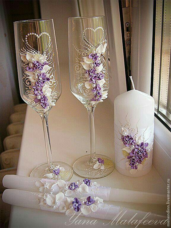 Pin By Ivona Krastanova On Painted Glass Wedding Wine Glasses