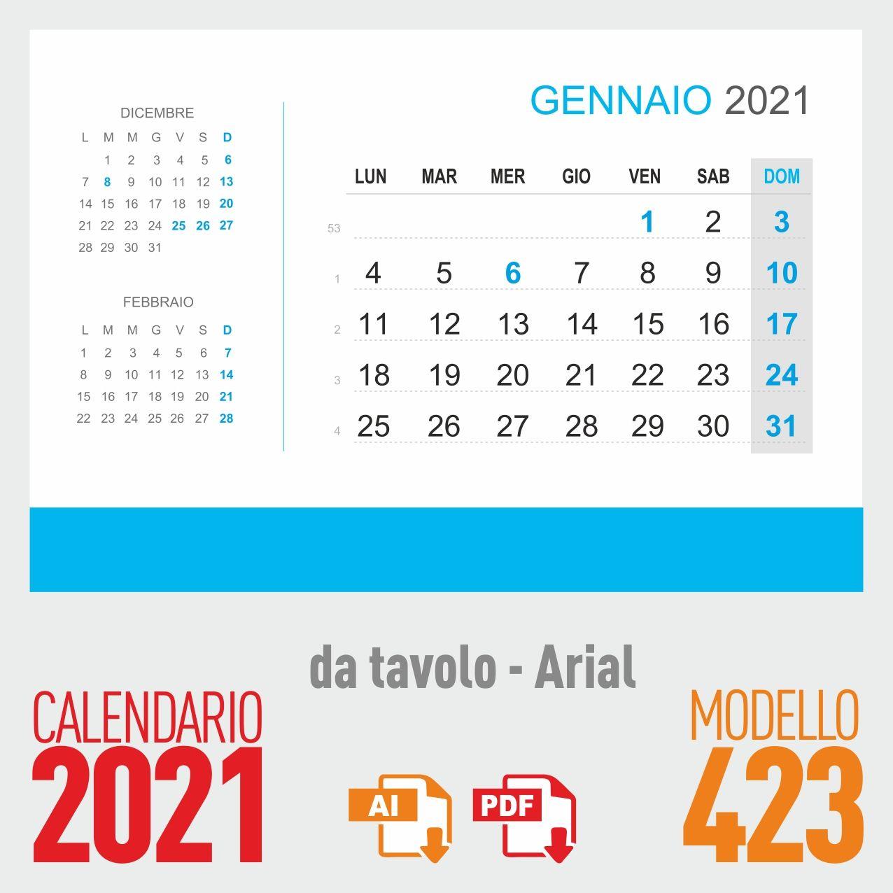 Calendario Da Tavolo Febbraio 2021 Calendario 2021 tavolo   Calendario
